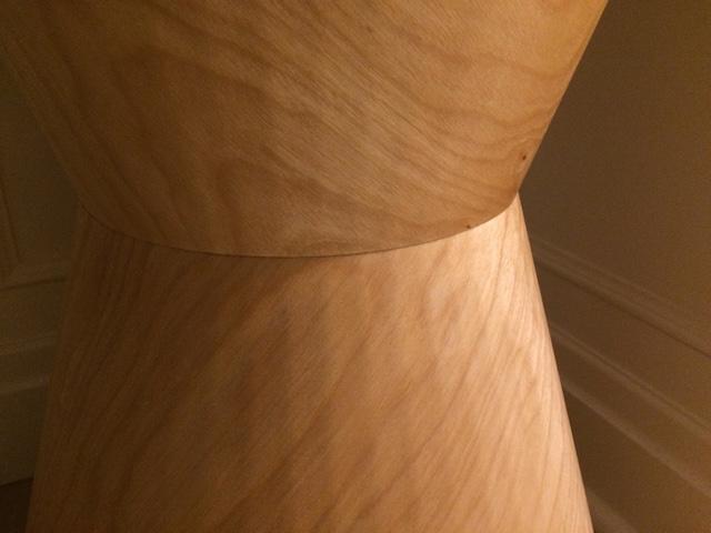 Hourglass Table Closeup