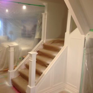 HVLP Spray Painting Staircase