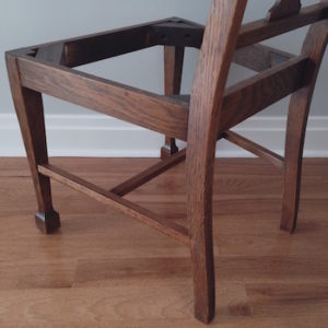 Chair stretcher repair-after