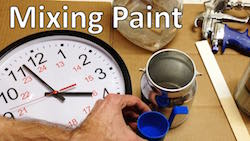 Mixing paint for a paint sprayer