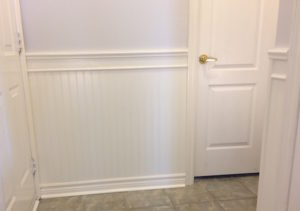 Finished Wainscoting Panel Installation